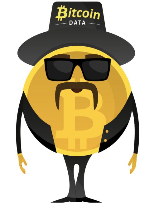 Maskot směnárny Bitcoin Data