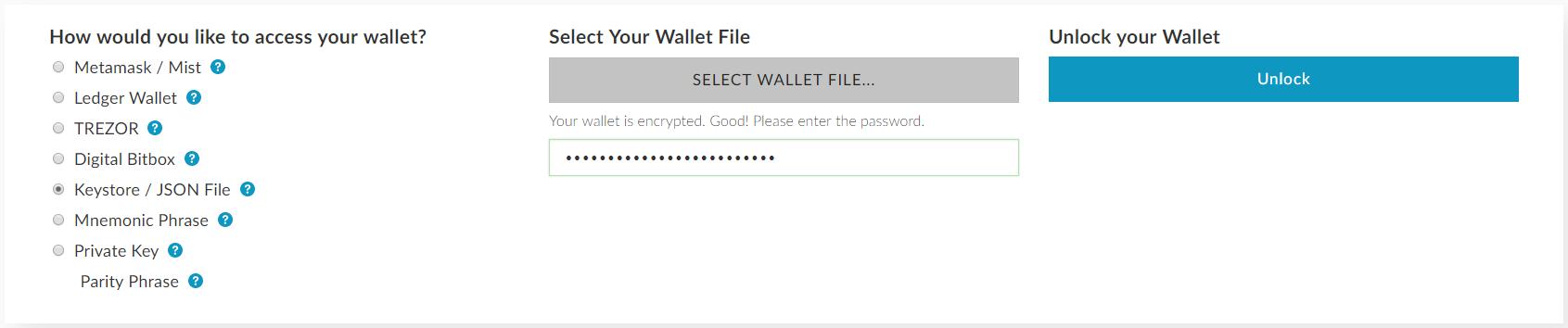 Offline přihlášení do MyEtherWallet