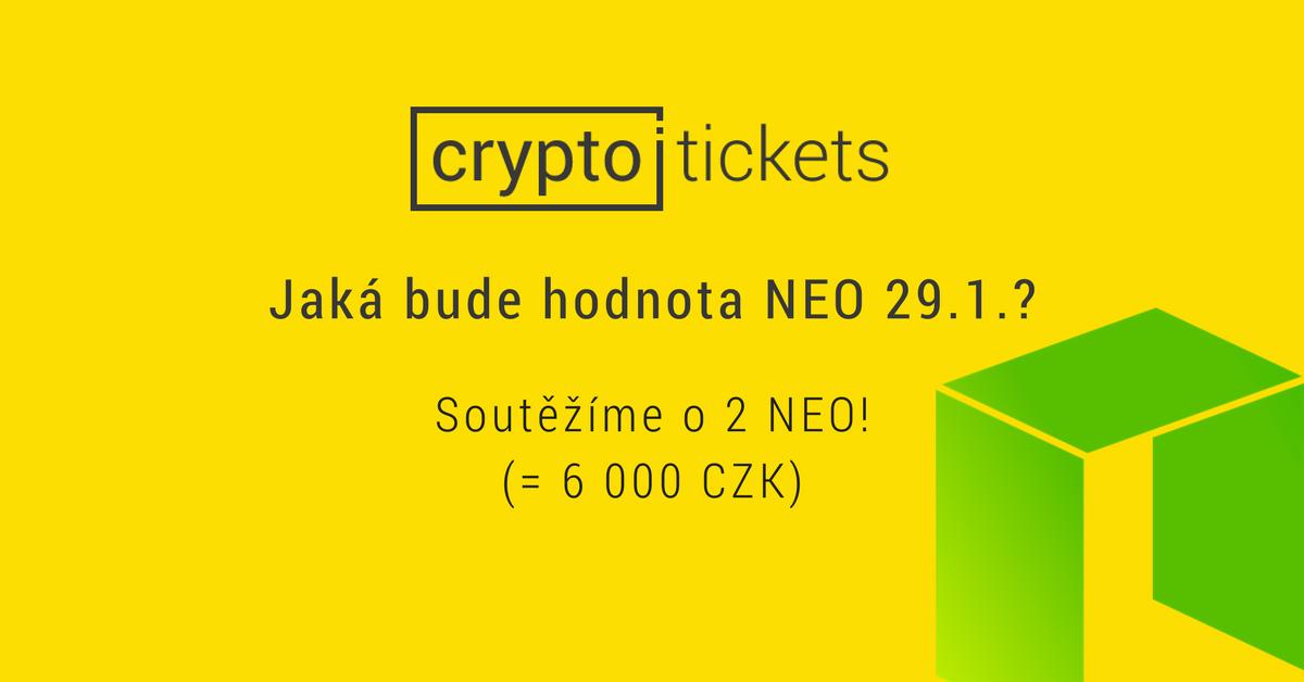 Soutěžte o 2 NEO (6 tisíc korun) se směnárnou cryptotickets