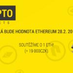 Facebooková tipovačka: Uhodněte cenu etheru a získejte 1 ETH (cca 19 tisíc korun)
