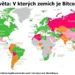 Infografická mapa světa: Bitcoin je legální především ve vyspělých státech