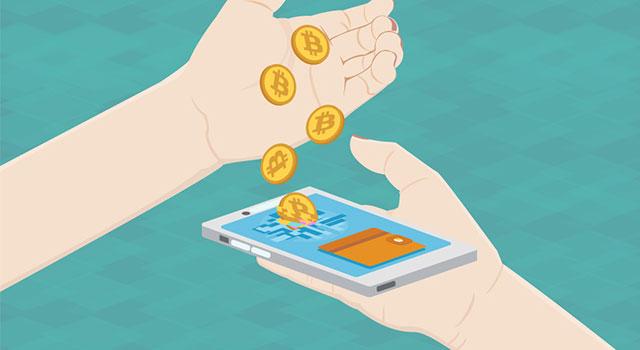 Ilustrativní obrázek: Smartphone přijímající bitcoiny