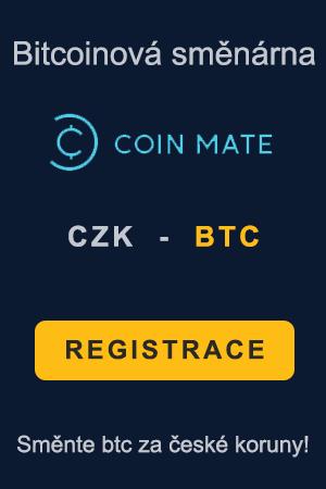 Banner bitcoinové směnárny Coinmate - Směňte BTC za české koruny (Banner 300x450)
