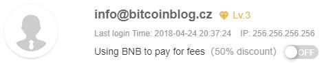 Použijte BNB k placení poplatků na burze Binance