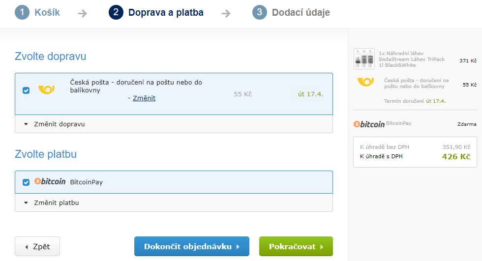 Dokončení objednávky na Alza.cz