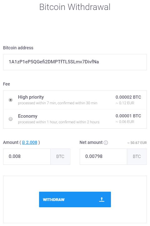 Prioritní (rychlejší) výběry bitcoinů (BTC) na CoinMate.io
