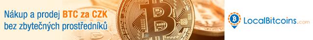 Nákup a prodej BTC za CZK bez zbytečných prostředníků na LocalBitcoins.com (Banner 640x82)